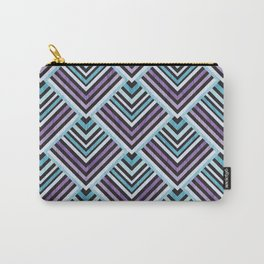 Purple and Blue Geo Carry-All Pouch
