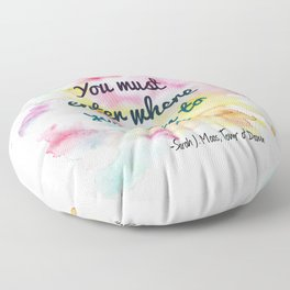 Enter where you fear to tread   Tower of Dawn Floor Pillow