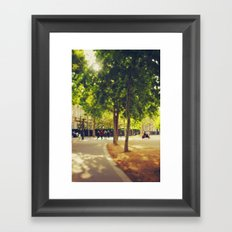 Little Red Vespa in Paris Framed Art Print
