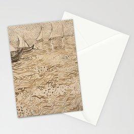 Vincent van Gogh - Boats at Saintes-Maries Stationery Cards