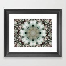 Creamy Mosaic Framed Art Print
