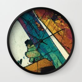 Epidote in Quartz Wall Clock