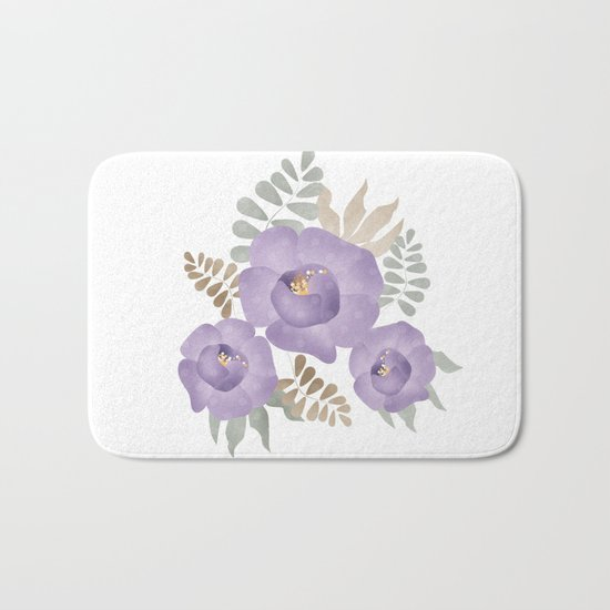 Light lilac roses. Bath Mat