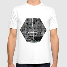 Phoenix city map black colour White SMALL Mens Fitted Tee