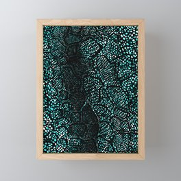 Turquoise Snake Skin Framed Mini Art Print