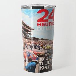 Le Mans 1967, 24hs Le Mans, 1967, original vintage poster Travel Mug
