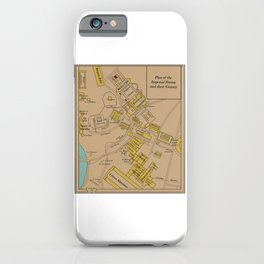 Historic Plan of the Imperial Forum Rome Map iPhone Case