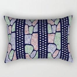 African Batik Tie Dye Pattern Rectangular Pillow