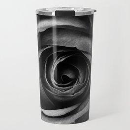 Black Rose Flower Floral Decorative Vintage Travel Mug