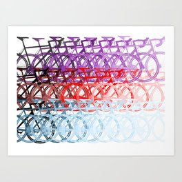 Bicycles palette Art Print