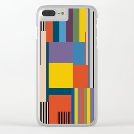 BAUHAUS RISING Clear iPhone Case