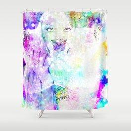 Girl bouquet Shower Curtain