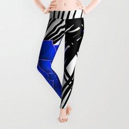 Big Bold Indigo Echeveria Illustration Leggings