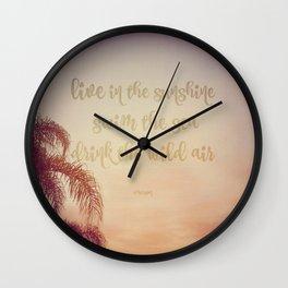 The Wild Air at Sunset Wall Clock