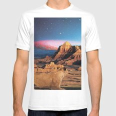 Space lions White MEDIUM Mens Fitted Tee