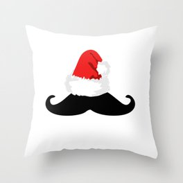 Winter Staching Through the Snow Throw Pillow
