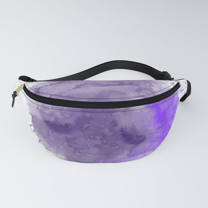 Watercolour Art Abstract Purple Colours Simple Colourful Modern Decor Gift Fanny Pack