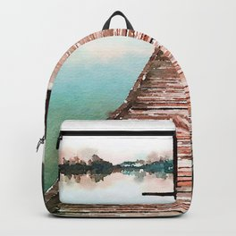 Stroll on the Dock at Sunset Backpack