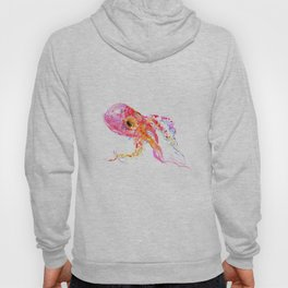 Bright Pink Octopus Hoody