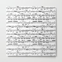 Sheet Music Metal Print