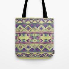 Southwest Pattern - Lime, Purple & Blue Tote Bag