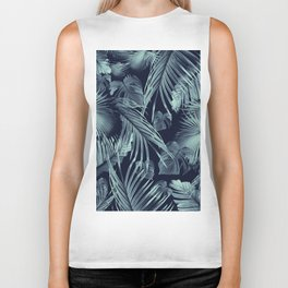 Tropical Jungle Leaves Dream #9 #tropical #decor #art #society6 Biker Tank