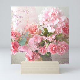Paris Impressionistic Roses Floral Decor Mini Art Print