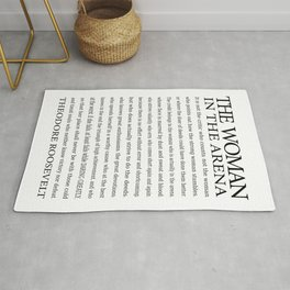 Daring Greatly, Woman in the Arena - The Man in the Arena Quote by Theodore Roosevelt Rug
