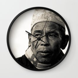 Nepalese man of Sindhupalchowk, Nepal Wall Clock