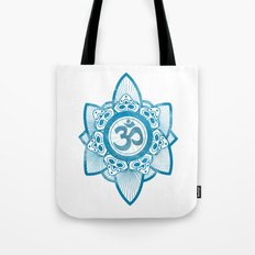 Ohm - Yoga Print Tote Bag