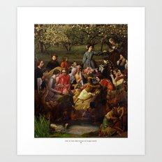 Grida Di Pizarro Nella Riunione Di Famiglia Isabella Art Print
