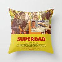 greg guillemin Throw Pillows featuring Superbad - Greg Mottola by Smart Store