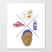 big poppa Canvas Prints featuring Big POPPA by Chan Harley