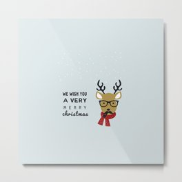 We Wish You A Very Merry christmas Metal Print