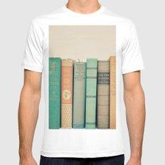 Literary Gems I MEDIUM White Mens Fitted Tee