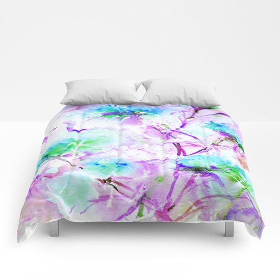 Floral 02 Comforters