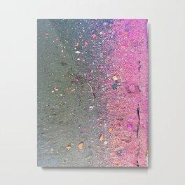 Chalk Dust Confetti Pink Crush Metal Print