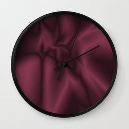 Burgundy silk Wall Clock