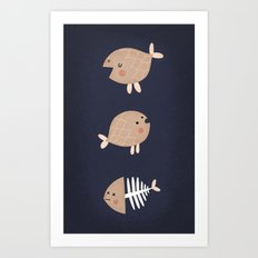 fish emotions. Art Print