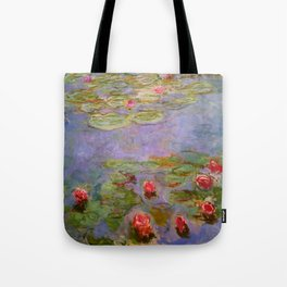 """Claude Monet """"Red Water Lilies"""", 1919 Tote Bag"""