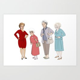 Golden Girls Art Print