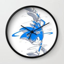 Blue Sonic  Wall Clock