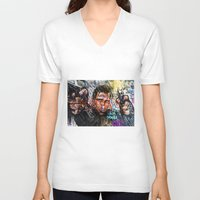 graffiti V-neck T-shirts featuring Graffiti by Svetlana Sewell