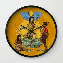 Hathor - Ancient Egyptian Goddess of Fertility Wall Clock