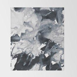 inkblot marble 8 Throw Blanket