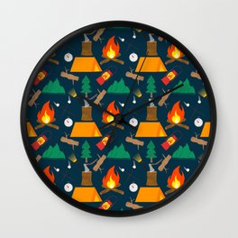 Let's Explore The Great Outdoors - Dark Blue Wall Clock