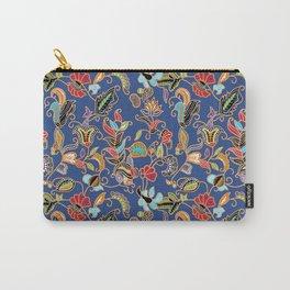 Sarong Kebaya Batik Blue Carry-All Pouch