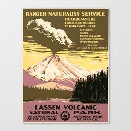 Vintage poster - Lassen Volcanic National Park Canvas Print