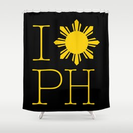 I Love Philippines Shower Curtain
