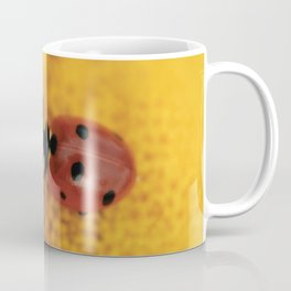 Ladybug on yellow flower - macro still life - fine art photo for interior design Coffee Mug